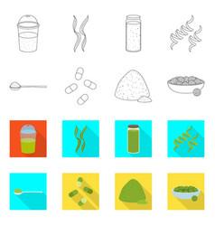 Design protein and sea logo collection vector