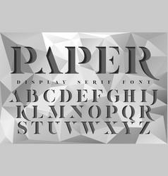 Display stencil serif antique font vector