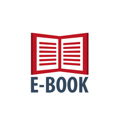 E book store logo education and book emblem vector