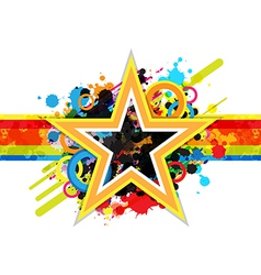 fantastic star design background vector image