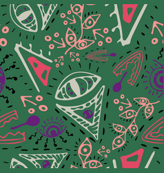 Fantasy hand-drawn seamless pattern vector