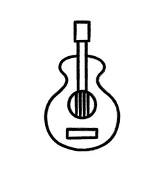 figure guitar music instrument to melody harmony vector image
