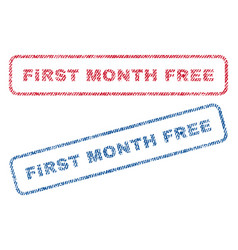 First month free textile stamps vector