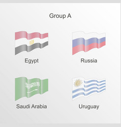 Flag group a world football championship vector