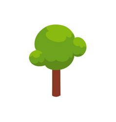 Flat cartoon urban park tree vector