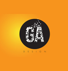 Ga g a logo made of small letters with black vector