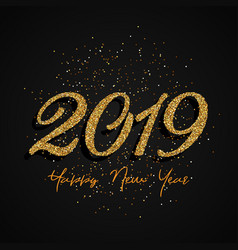 glitter happy new year design vector image