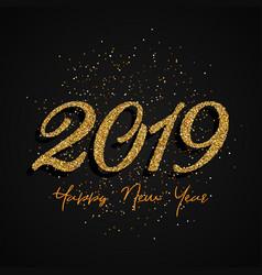 glitter happy new year design vector image