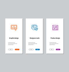 graphic design designers tools product design vector image
