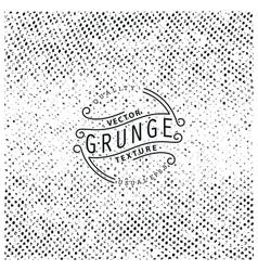 Halftone grunge texture vector