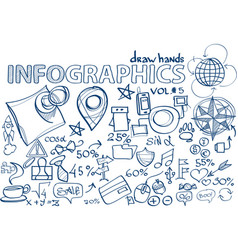 Hand draw infographics vol 5 vector