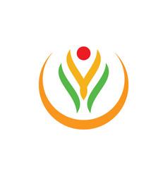 Happy beauty abstract spa logo vector