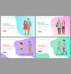 how to have happy relationship couple vector image