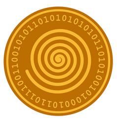 Hypnosis spiral digital coin vector