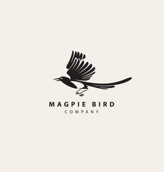 icon magpie bird simple vector image
