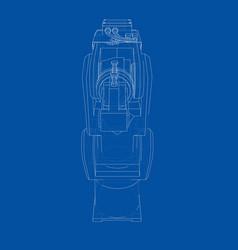 industrial robot manipulator vector image