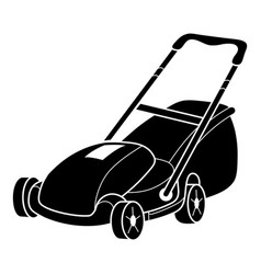 Lawn mower icon simple style vector