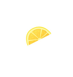 lemon slice icon on white vector image