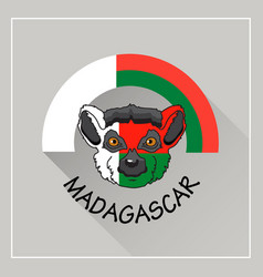 madagascar label with lem vector image