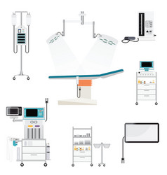 Medical hospital with equipment vector