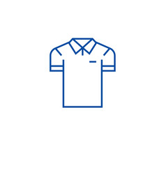 men polo line icon concept men polo flat vector image