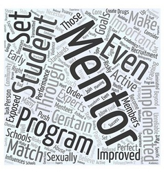 Mentoring in schools Word Cloud Concept vector
