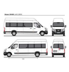 Nissan nv400 passenger van l4h3 2015 vector