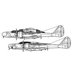 Northrop p-61 black widow f-15 reporter vector
