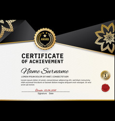 Official certificate of appreciation award vector