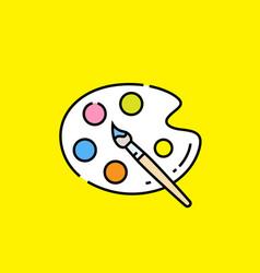 Paint palette icon vector