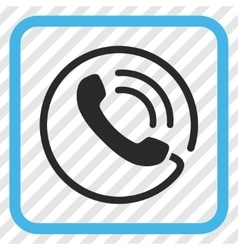 Phone Call Icon In a Frame vector