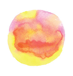 pink orange and yellow round watercolor vector image