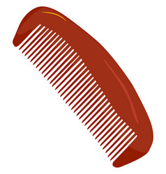 Red comb on white background vector