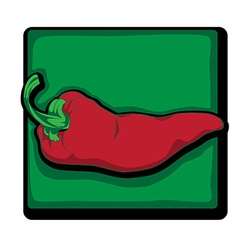 red pepper clip art vector image