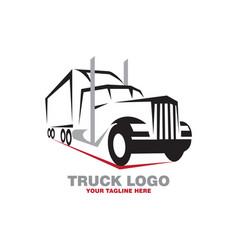 rental truck logo vector image