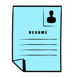 Resume icon icon cartoon vector