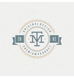 Retro Vintage Insignia Logotype vector