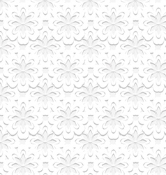 Seamless embossed floral pattern vector
