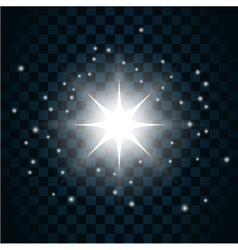 Shine star sparkle icon 12 vector