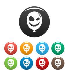 smiley scary ballon icon simple style vector image