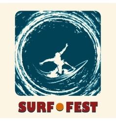 Surf Fest Emblem vector image