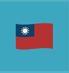 Taiwan flag icon in flat design vector