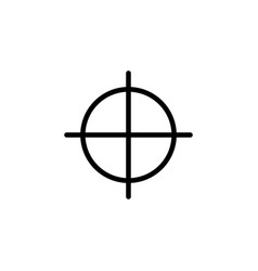 target guide icon can be used for web logo mobile vector image