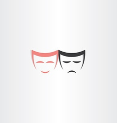 theater symbol happy and sad masks icon vector image