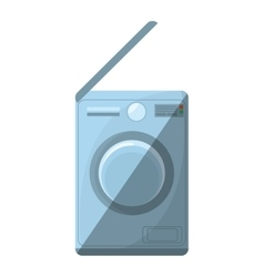 washing machine home appliance shadow vector image
