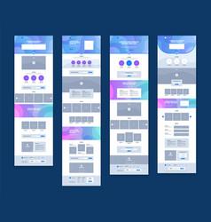Website design set vector