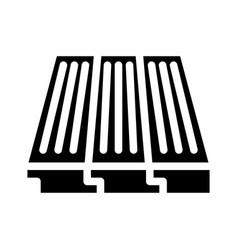 Wood layer floor glyph icon vector