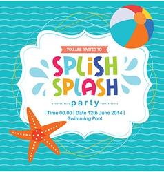 Birthday card invitation summer fun splash pattern vector