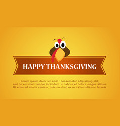 Happy thanksgiving on yellow background style vector