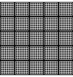 Polka dots and square seamless pattern vector image vector image